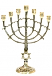Seven Branch Large Cup Menorah   Star of David