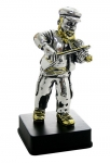 Fiddler Figurine Silver Plated