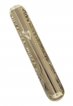Round Silver color Blessing Mezuzah
