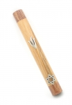 Two Color Wood Mezuzah
