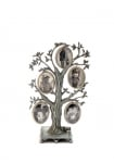 Five Photo Pewter Family Tree