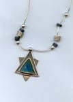 Roman Glass Magen David Necklace