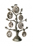 Seven Photo Pewter Family Tree
