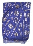 Royal Blue Woman Head Covering Scarf   Ten Commandments