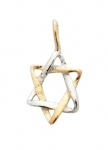 Gold Filled Miniature Two Tone Star of David Pendant