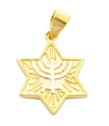 Star of David Menorah Pendant