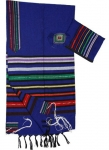 Gabrieli Cotton Tallit Set   Josephs Multicolor Coat on blue