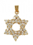 Gold Filled Zirconium Star of David Pendant