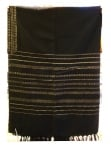 Gabrieli Wool Tallit Set   Black with Gold stripes