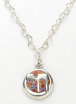 Silver Millefiori Chai Necklace