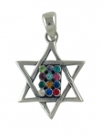 Silver Breastplate Star of David Pendant