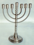 Classic Pewter 7 Branch Menorah