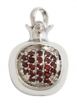 Gold Filled Rhodium Pomegranate Garnet Pendant