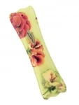 Light green flower design Wood Mezuzah