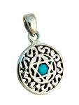 Silver and Opal Star of David Decorative Pendant