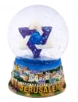 Star of David Snow Dome Paperweight