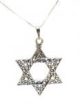 Star of David Filigree Pendant in Sterling Silver