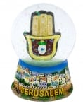 Jerusalem Hamsa Snow Dome Paperweight