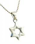 Classic Silver Star of David Pendant