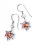 Thousand Flower Star of David Earrings