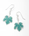 Grape Leaf Earrings   Turquoise