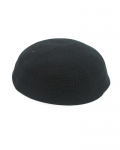 C DMC KIPPAH PLAIN BLACK+ HOLES