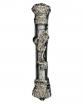 Nickel Plated Car Mezuzah with Travelers Prayer