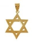 Gold Filled Classic Star of David Pendant