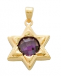 Star of David Pendant with center Amethyst