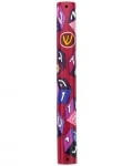 Girls Wood Alef Bet Mezuzah