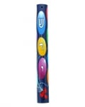 Wood Balloon Alef Bet Mezuzah