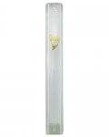 Clear Plastic Mezuzah with rubber plug