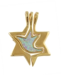 Gold Filled Star of David Dove Pendant