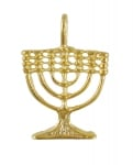 Gold Filled Seven Branch Menorah Pendant