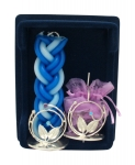 Flower design Sterling Silver Havdalah Set
