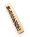 Natural Wood Seven Species Mezuzah