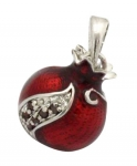 Gold Filled Rodium Pomegranate Garnet Drop Pendant