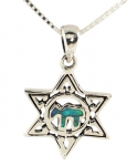 Silver and Opal Star of David