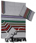 Gabrieli Cotton Tallit Set   Josephs Multicolor Coat on Gray