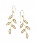 Small Olive Branch Earrings   Pearl Color