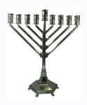 Nickel Habbad Design Hanukah Menorah