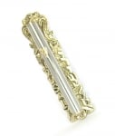 Gold and Silver Jerusalem Wall Mezuzah