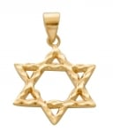 Textured Star of David Pendant