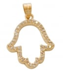 Gold filled Hamsa Pendant