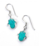 Small Turquoise Hamsa Earrings