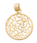 Gold Filled Round Shema Pendant