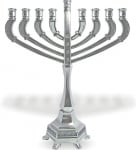 Silver Plated Brass Hanukah Menorah