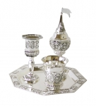 Silver Plated 4 Piece Havdalah Set