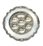 Round Pewter Passover Seder Plate