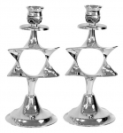Nickel Magen David Candlesticks